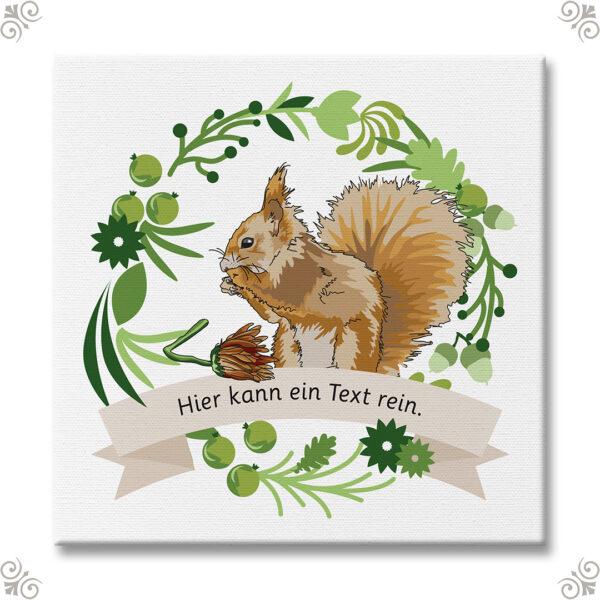 Krafttier Eichhörnchen mit persönlicher Nachricht