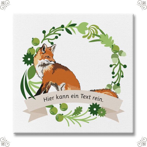 Krafttier Fuchs mit persönlicher Nachricht