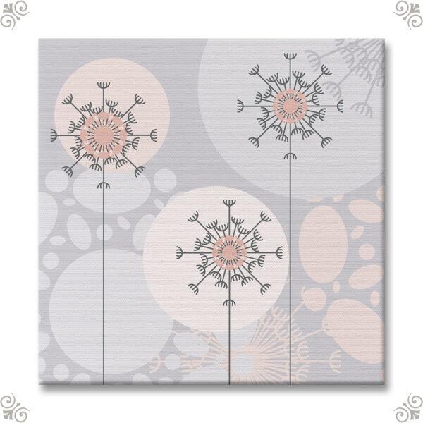 Florales Design für ein Wandbild