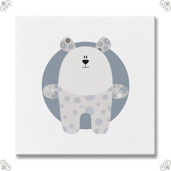 Teddybär als Wandbild