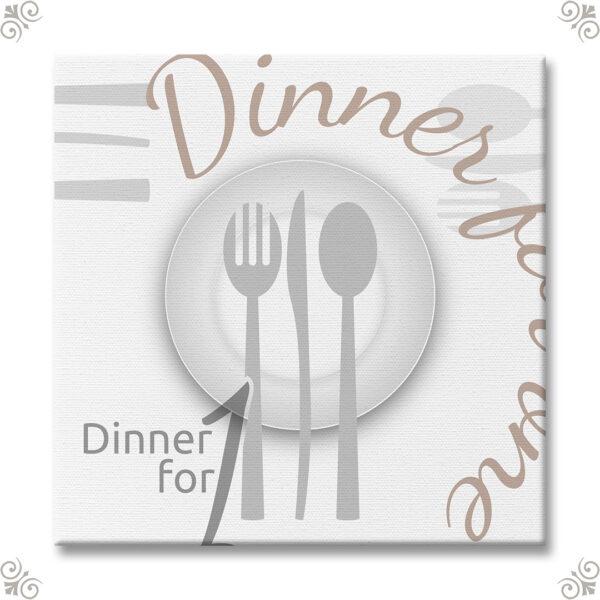 Motivprint Dinner for one