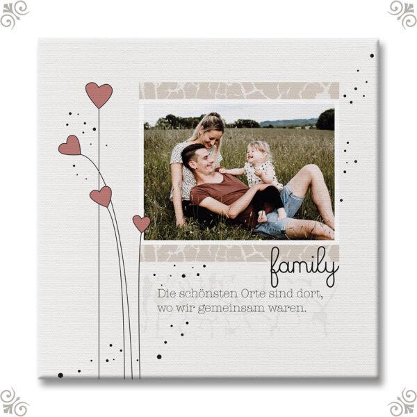 Personalisiertes Familienbild