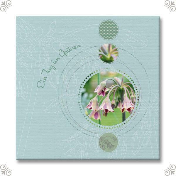 Blütenbild im Scrapbooklook