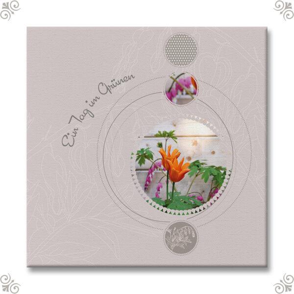 Scrapbookdesign Blumenfoto