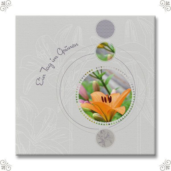 Blumenbild im Scrapbookstyle