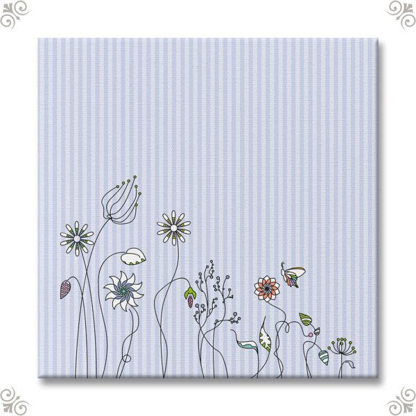 Bespannter Keilrahmen Motiv Blumenwiese
