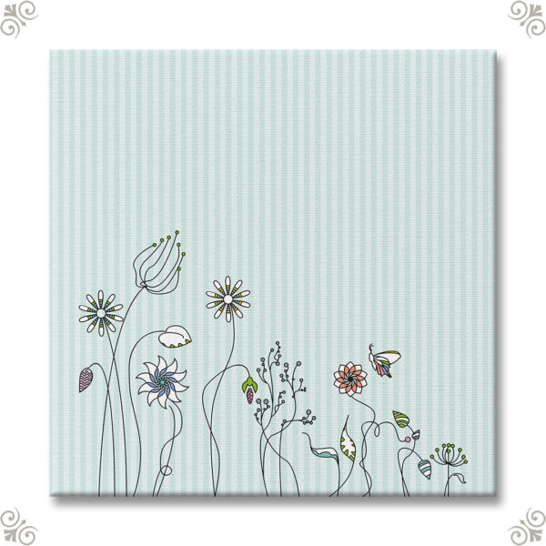 Bespannter Keilrahmen Motiv Blumenwiese 1