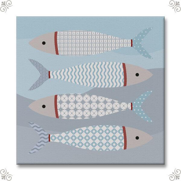 Ein Aquarium auf Leinwand 1