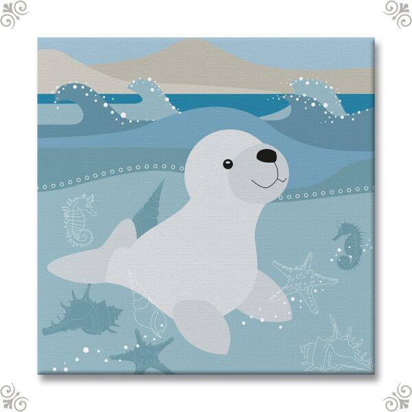 Mediterranes Motiv mit einem Seehund