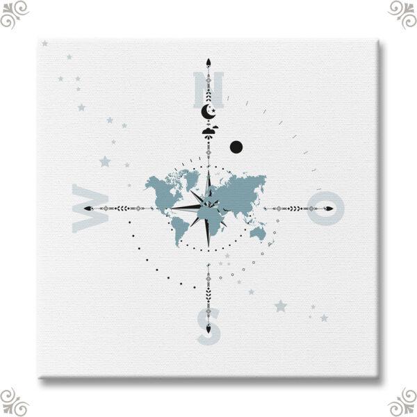 Wandgestaltung Weltkarte 1